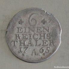 Monedas antiguas de Europa: 1/6 DE THALER 1765 PLATA PRUSIA. Lote 179060478