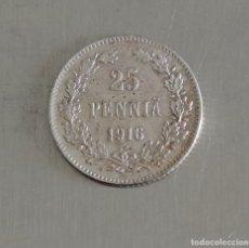 Monedas antiguas de Europa: 25 PENNIA 1916 FINLANDIA PLATA. Lote 179069362