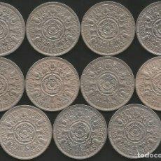 Monedas antiguas de Europa: REINO UNIDO (VER AÑOS EN DESCRIPCION) - 2 SHILLINGS - KM 906 - LOTE DE 11 MONEDAS CIRCULADAS. Lote 179115712