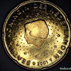 Monedas antiguas de Europa: 20 CENTIMOS CENT EURO HOLANDA 2001 CIRCULADA - MONEDAS USADAS. Lote 179217193