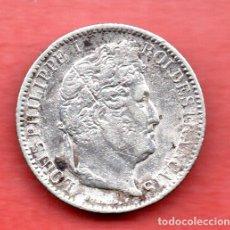 Monedas antiguas de Europa: FRANCIA : 50 CENTIMOS A - PARIS 1846 PLATA . Lote 179324748