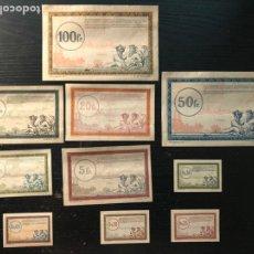 Monedas antiguas de Europa: LES BILLETS DE LA REGIE DES CHEMINS DE FER DES TERRITOIRES OCCUPES. Lote 179333590