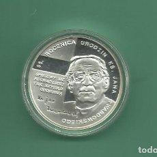 Monedas antiguas de Europa: PLATA-POLONIA. 10 ZLOTYCH 2010 PROOF. 14,14 GRAMOS DE LEY 925. TWARDOWSKIEGO. Lote 179546877
