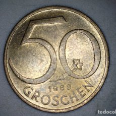 Monedas antiguas de Europa: 50 GROSCHEN AUSTRIA 1988 - MONEDA CIRCULADA - MONEDAS USADAS. Lote 180127951