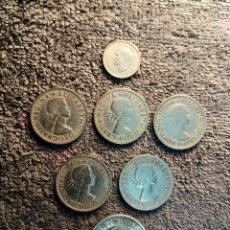Monedas antiguas de Europa: INGLATERRA - REINO UNIDO LOTE DE 7 MONEDAS - VER DESCRIPCION. Lote 180227437