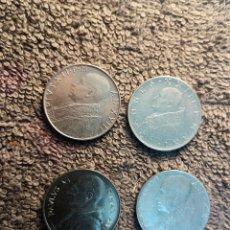 Monedas antiguas de Europa: CIUDAD DEL VATICANO, 4 MONEDAS DE 100 LIRAS - VER DESCRIPCION. Lote 180228632