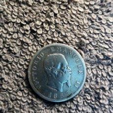 Monedas antiguas de Europa: ITALIA, 1 LIRA 1863 CECA MILAN, PLATA.. Lote 180231430