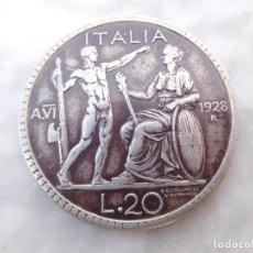 Monedas antiguas de Europa: MONEDA ITALIANA DE 20 LIRAS 1928 PLATA ITALIA. Lote 53067961