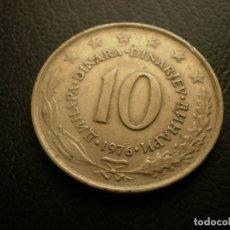Monedas antiguas de Europa: YUGOSLAVIA 10 DINARA 1976. Lote 180893285