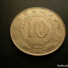 Monedas antiguas de Europa: YUGOSLAVIA 10 DINARA 1978. Lote 180893362