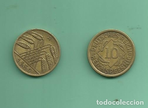 ALEMANIA REPÚBLICA WEIMAR 10 PFENNIG 1930-A, ALUMINIO-BRONCE (Numismática - Extranjeras - Europa)