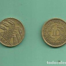 Monedas antiguas de Europa: ALEMANIA REPÚBLICA WEIMAR 10 PFENNIG 1930-A, ALUMINIO-BRONCE. Lote 194226988
