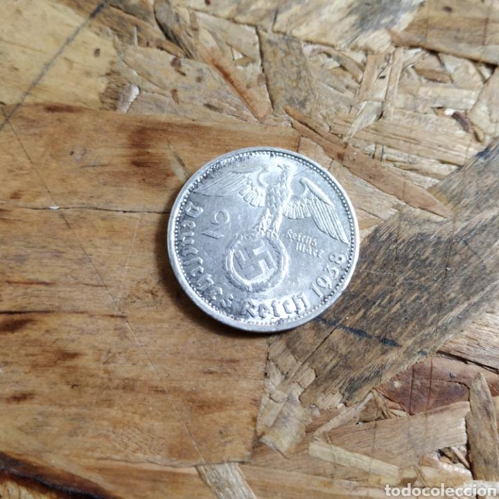Monedas antiguas de Europa: 2 reichsmark III reich plata 1938 y 10 marcos plata 1972 - Foto 3 - 181081285
