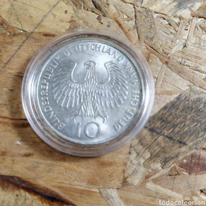 Monedas antiguas de Europa: 2 reichsmark III reich plata 1938 y 10 marcos plata 1972 - Foto 5 - 181081285