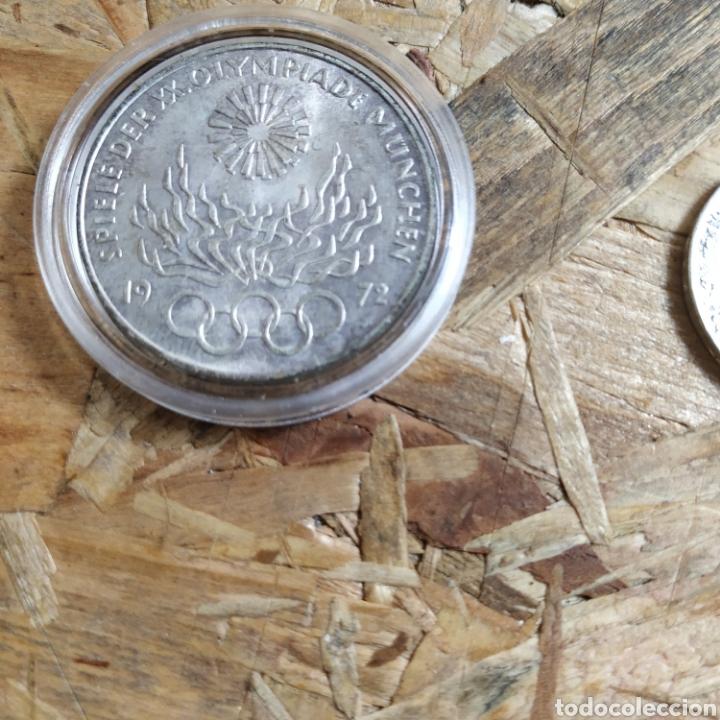 Monedas antiguas de Europa: 2 reichsmark III reich plata 1938 y 10 marcos plata 1972 - Foto 6 - 181081285