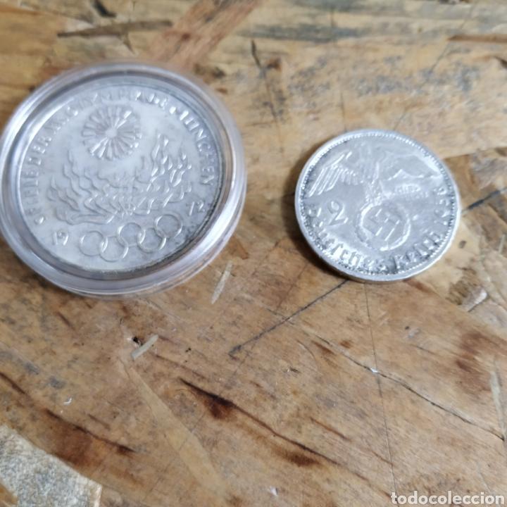 2 REICHSMARK III REICH PLATA 1938 Y 10 MARCOS PLATA 1972 (Numismática - Extranjeras - Europa)