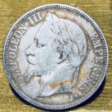 "Monedas antiguas de Europa: FRANCIA. 5 FRANCOS PLATA 1868 ""BB"". NAPOLEÓN III. Lote 181109952"