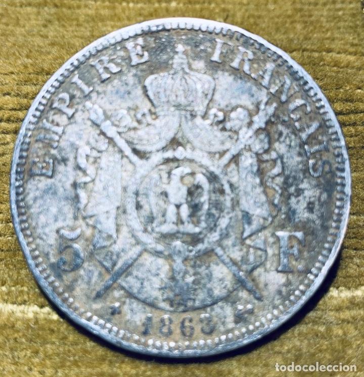 "Monedas antiguas de Europa: Francia. 5 Francos Plata 0'900 de 1868 ""BB"". Napoleón III - Foto 2 - 181109952"