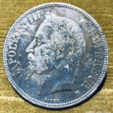 "Monedas antiguas de Europa: FRANCIA. 5 FRANCOS PLATA 1870 ""BB"". NAPOLEÓN III. Lote 181110787"