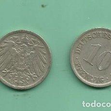 Monedas antiguas de Europa: ALEMANIA IMPERIAL 2X10 PFENING 1907-A,F. CUPRONIQUEL. Lote 181186913