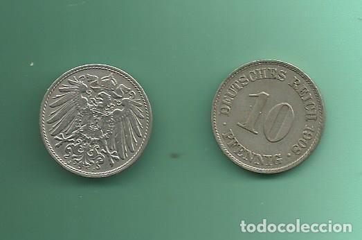ALEMANIA IMPERIAL 2X10 PFENING 1908-A,J. CUPRONIQUEL (Numismática - Extranjeras - Europa)
