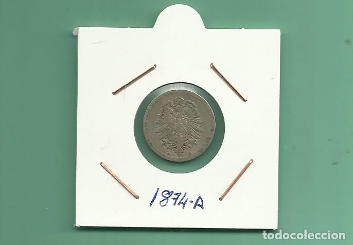 ALEMANIA IMPERIAL 5 PFENING 1874-A. CUPRONIQUEL (Numismática - Extranjeras - Europa)