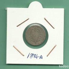Monedas antiguas de Europa: ALEMANIA IMPERIAL 5 PFENING 1874-A. CUPRONIQUEL. Lote 181201932