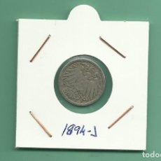 Monedas antiguas de Europa: ALEMANIA IMPERIAL 5 PFENING 1894-J. CUPRONIQUEL. Lote 181210968