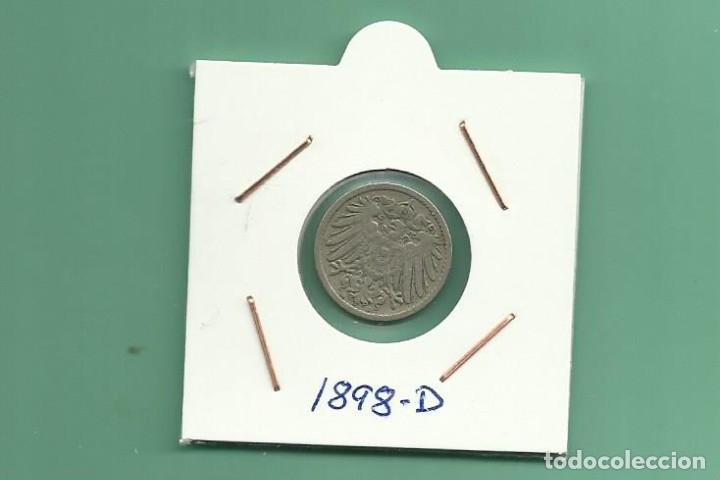 ALEMANIA IMPERIAL 5 PFENING 1898-D. CUPRONIQUEL (Numismática - Extranjeras - Europa)