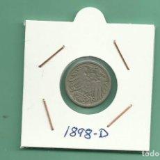 Monedas antiguas de Europa: ALEMANIA IMPERIAL 5 PFENING 1898-D. CUPRONIQUEL. Lote 181211461