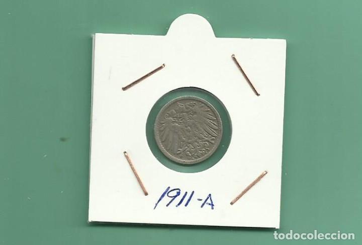 ALEMANIA IMPERIAL 5 PFENING 1911-A. CUPRONIQUEL (Numismática - Extranjeras - Europa)