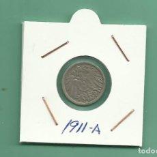 Monedas antiguas de Europa: ALEMANIA IMPERIAL 5 PFENING 1911-A. CUPRONIQUEL. Lote 181213186