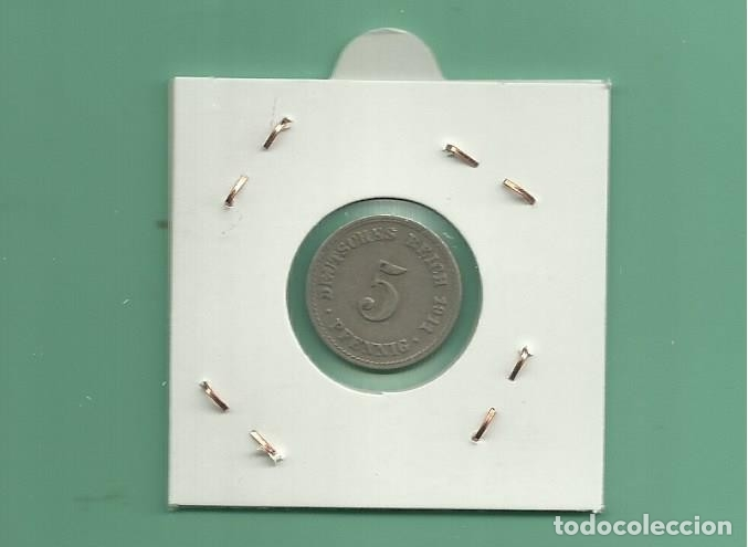 Monedas antiguas de Europa: ALEMANIA IMPERIAL 5 PFENING 1911-A. CUPRONIQUEL - Foto 2 - 181213186