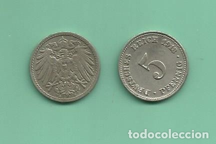 ALEMANIA IMPERIAL 2X5 PFENING 1913-A.D CUPRONIQUEL (Numismática - Extranjeras - Europa)