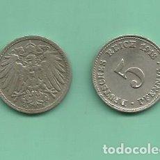 Monedas antiguas de Europa: ALEMANIA IMPERIAL 2X5 PFENING 1913-A.D CUPRONIQUEL. Lote 181213618