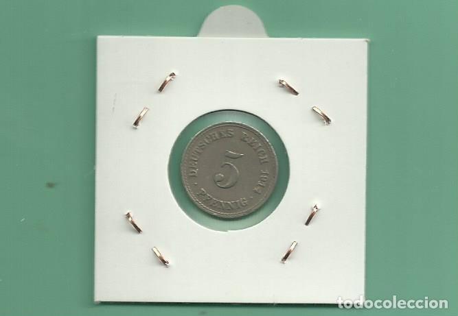 Monedas antiguas de Europa: ALEMANIA IMPERIAL 5 PFENING 1914-A CUPRONIQUEL - Foto 2 - 181214265