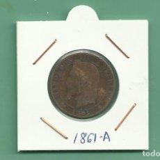 Monedas antiguas de Europa: FRANCIA. 5 CENTIMES 1861. NAPOLEÓN III. Lote 181545296