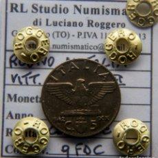 Monedas antiguas de Europa: REINO DE ITALIA - VITTORIO EMANUEL III - 5 CENTAVOS 1942 - 2ªGUERRA MUNDIAL. Lote 181897020