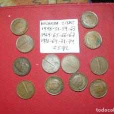 Monedas antiguas de Europa: LOTE DE MONEDAS DE HOLANDA 12 MONEDAS 1 CENT 25 GR. Lote 182000038