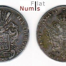 Monedas antiguas de Europa: ALEMANIA (HAMBURGO ) - 32 CHELINES - 1733-IHL - PLATA - ESCASA. Lote 182061793
