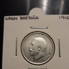 Monedas antiguas de Europa: GRAN BRETAÑA 1 CHELÍN 1916 PLATA. Lote 182112195