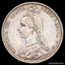 Monedas antiguas de Europa: GRAN BRETAÑA. 6 PENCE 1887. VICTORIA. PLATA. SIN CIRCULAR KM 759. Lote 182360320