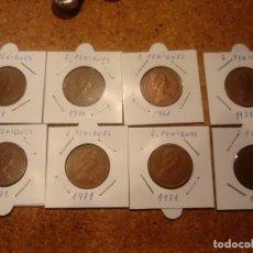Monedas antiguas de Europa: 8 MONEDAS DE 2 PENIQUES ( NEU PENCE ) AÑO 1971. Lote 182494226