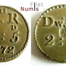 Monedas antiguas de Europa: GRAN BRETAÑA - 1/2 GUINEA - GR. SD. 10:5 - 1772 - JORGE III - BRONCE - E.B.C++. Lote 182520342