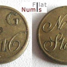 Monedas antiguas de Europa: GRAN BRETAÑA - 1/2 GUINEA - D.G. 2*16 - BRONCE - E.B.C.. Lote 182520545