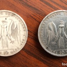 Monedas antiguas de Europa: 2 MONEDAS M-E32 , ALEMANIA 10 MARCOS ALEMANES 1.990. Lote 182571146