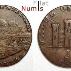 Monedas antiguas de Europa: GIBRALTAR - 2 CUARTOS - 1802 - JORGE III - COBRE - MUY ESCASA. Lote 182618342