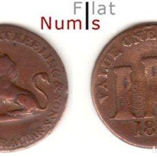 Monedas antiguas de Europa: GIBRALTAR - 1 CUARTO -1810 - JORGE - III - COBRE - E.B.C.. Lote 182618851