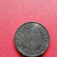 Monedas antiguas de Europa: MONEDA NAZI DE ALEMANIA DE 10 FÉNIGH 1941. Lote 182686531