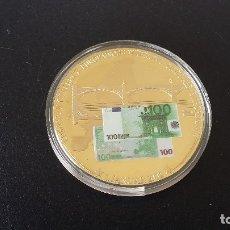 Monedas antiguas de Europa: MONEDA CONMEMORATIVA AL PRIMER BILLETE DE EURO, 1 ENERO 2002,40 MM, PLATA NUEVA. Lote 182752015